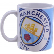 Manchester City FC Forever Collectibles Halftone Boxed Mug - 11oz