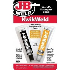 JB Weld Kwik Weld Quick Setting Steel Reinforced Epoxy - 2oz