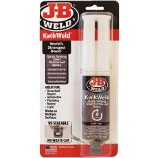 J-B Weld Kwik Weld 6 Minute Steel Reinforced Epoxy in Dark Grey - 25ml