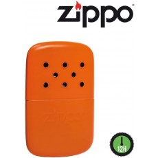 Zippo 6 / 12 Hour Refillable Hand Warmer in Orange Pocket Sized & Reusable