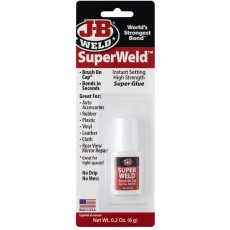 J-B Weld Super Weld Glue in Clear High Strength & Instant Setting - 6g