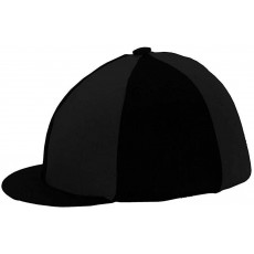 Y-H Hy Lycra Silks Hat Cover in Black for Horse Riding - One Size
