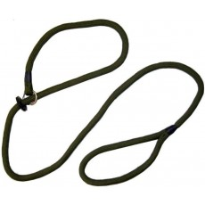 Bisley Dog Slip Leads in Green with Hand Loop - 8mm & Length 1.5m