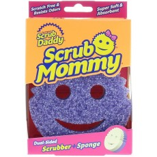Dual Sided Texture Changing Scrubber Kitchen Sponge in Purple - Super Absorbent