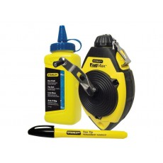 Stanley Tools FatMax® Chalk Line Set with an ABS Case - Blue & Black - 30m