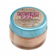 Rimmel London Fresher Skin Foundation, 103 True Ivory