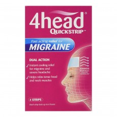 4Head Quickstrip Headache and Migraine Relief Strips