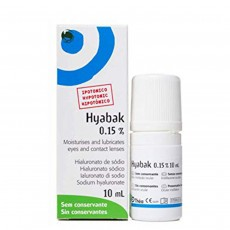 Hyabak Moisturising and Lubricating Solution for Eyes and Contact Lenses