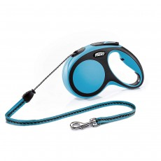 Flexi New Comfort Retractable Cord Lead Blue - Medium, 5m