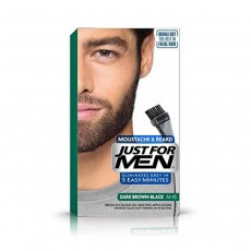 Just For Men M45 Moustache and Beard Facial Hair Colouring, Dark Brown Black