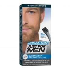 Just For Men M25 Moustache and Beard Gel Facial Hair Colouring,Light Brown