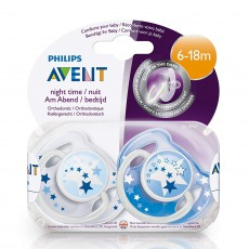 Philips Avent Night-Time Soothers 6-18m