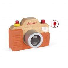 Janod J05335 Toddler Electronic Toys Sound Camera with Silicone Case