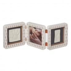 Baby Art My Baby Touch Rounded Double Print Frame