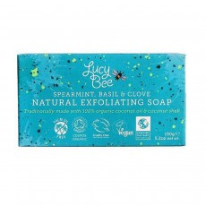 Lucy Bee Spearmint, Basil & Clove Natural Exfoliating Soap - 150 g