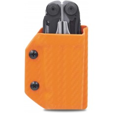 Clip & Carry Kydex Multitool Sheath in Carbon Fibre Orange for Leatherman Surge