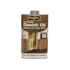 Rustins Original Danish Oil for All Types of Wood - Interior & Exterior Use - 1L