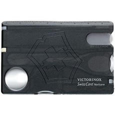 Victorinox Unisex Swiss Card Nail Care Tool Kit in Black Stainless Steel - Small
