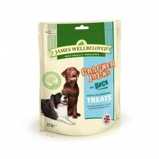 James Wellbeloved Crackerjacks Dog Treats Duck - 225g