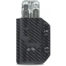 Clip & Carry Kydex Multitool Sheath in Black Carbon Fibre for Leatherman Free P4