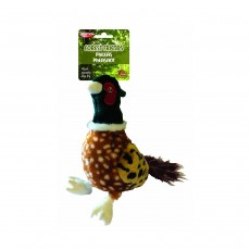 Animal Instincts Forest Friends Phileas Pheasant Plush Dog Toy, Large