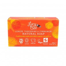 Lucy Bee Lemon, Tangerine & Cinnamon Natural Soap - 150g