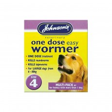 Johnson's One Dose Wormer for Dogs - Size 4