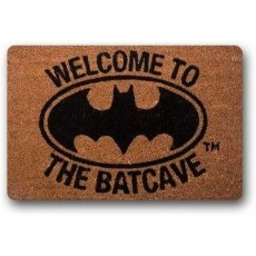 Vrupi Welcome to Batcave Door Mat - Durable Non Woven Bat Pattern - 40x60cm New