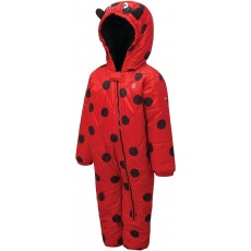Dare 2b Kid's Hooded Character Rain and Snowsuit in Red - 18 / 24 Months