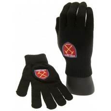 West Ham United FC Knitted Gloves in Navy - Official Football Gift