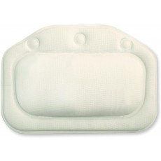 Croydex Soft Cushioned Bath Pillow with Suction Cups in White