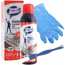 Oven Mate Biodegradable Oven Deep Cleaning Gel Kit with Brush & Gloves - 500ml