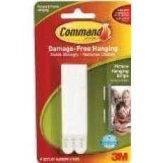 Command Narrow Picture Strips in White - Damage Free Hanging for General Purpose