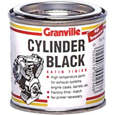 Granville Cylinder Satin Finish - Black High Temperature Paint - 250ml