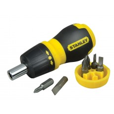 Stanley Tools Multibit Ratchet Stubby Screwdriver & Bits - Magnetic