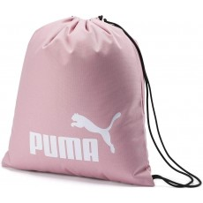 Puma Phase Gym Sack in Bridal Rose Polyester Drawcord Opening and PU Backing
