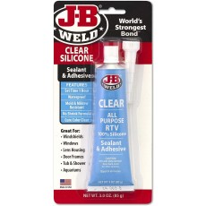 J-B Weld RTV Sealant and Adhesive Silicone with Cure Colour Clear - 3oz