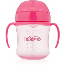 Dr. Brown's Soft Spout Toddler Cup with Handles in Pink - 6oz / 180ml