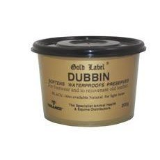 Gold Label Dubbin in Black for Leather Items and Footwear - 200gm