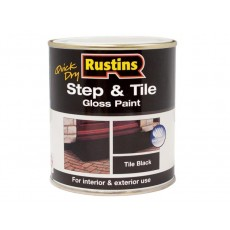 Rustins Step & Tile Paint in Black - Quick Dry & Weather Resistant - 250ml