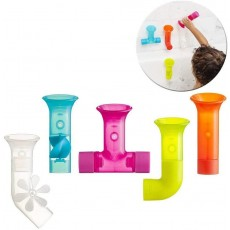 Boon Toddler's Water Pipes Bath Toy - Multicoloured - 5 Pieces for Ages 1 - 4
