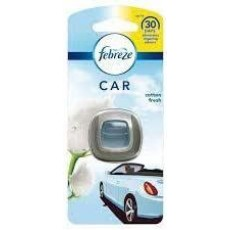 Febreze Clip - On Car Air Freshener Starter Kit - Cotton - Eliminates Odours