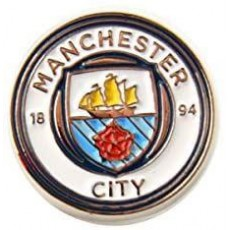 Manchester City Football Club Official Licensed Crest Pin Badge
