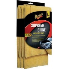Meguiar's X2020 Supreme Shine Towels in Yellow Microfibre - Pack of 3