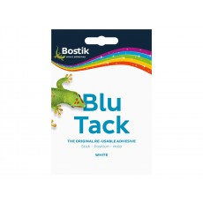 Blu-Tack Reusable Adhesive in White - Handy Wallet Size - Easy to Use
