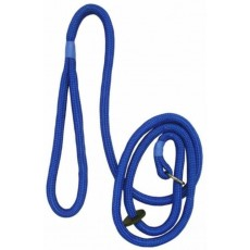 Bisley Dog Slip Leads in Blue with Hand Loop - 8mm & Length 1.5m