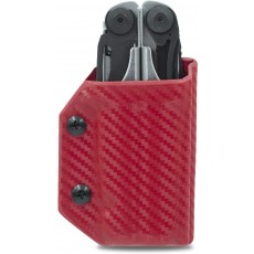 Clip & Carry Kydex Multitool Sheath in Carbon Fibre Red for Leatherman Surge