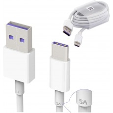 Huawei Genuine Official HL1289 5A USB 3.1 Type C Charging Data Cable in White