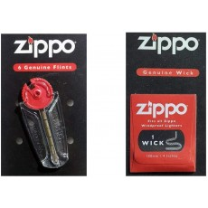 Zippo Genuine Wick and Flint Fits All Zippo Windproof Lighters
