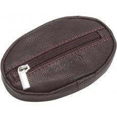 Zippo Genuine Men's Coin Pouch in Mocha Leather with Gift Box - 10cm